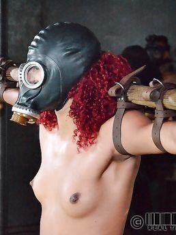Slave Daisy Ducati gas masked, bound & tortured into squirting in brutal BDSM